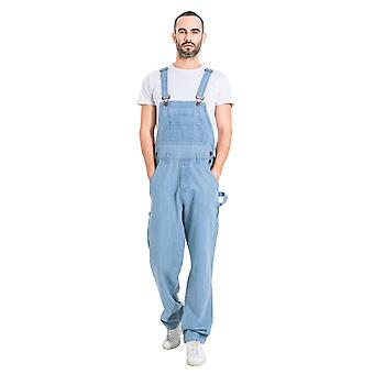 USKEES Basic Denim Dungarees - Pale wash Men's Value Overalls Relaxed Fit
