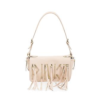 Pinko women's 1P20MJY27GO35 beige leather shoulder bag