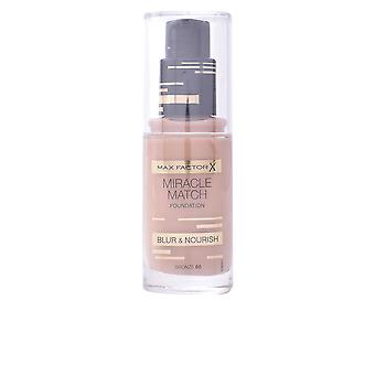 Max Factor Miracle Match Blur And Nourish Foundation Bronze Womens New Make Up