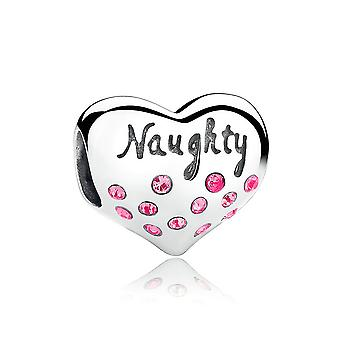 Sterling silver charm Nice and naughty SCC015