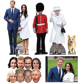 2018 الزفاف الملكي الأمير هاري & ميغان ماركل انقطاع & قناع الذهب حزمة