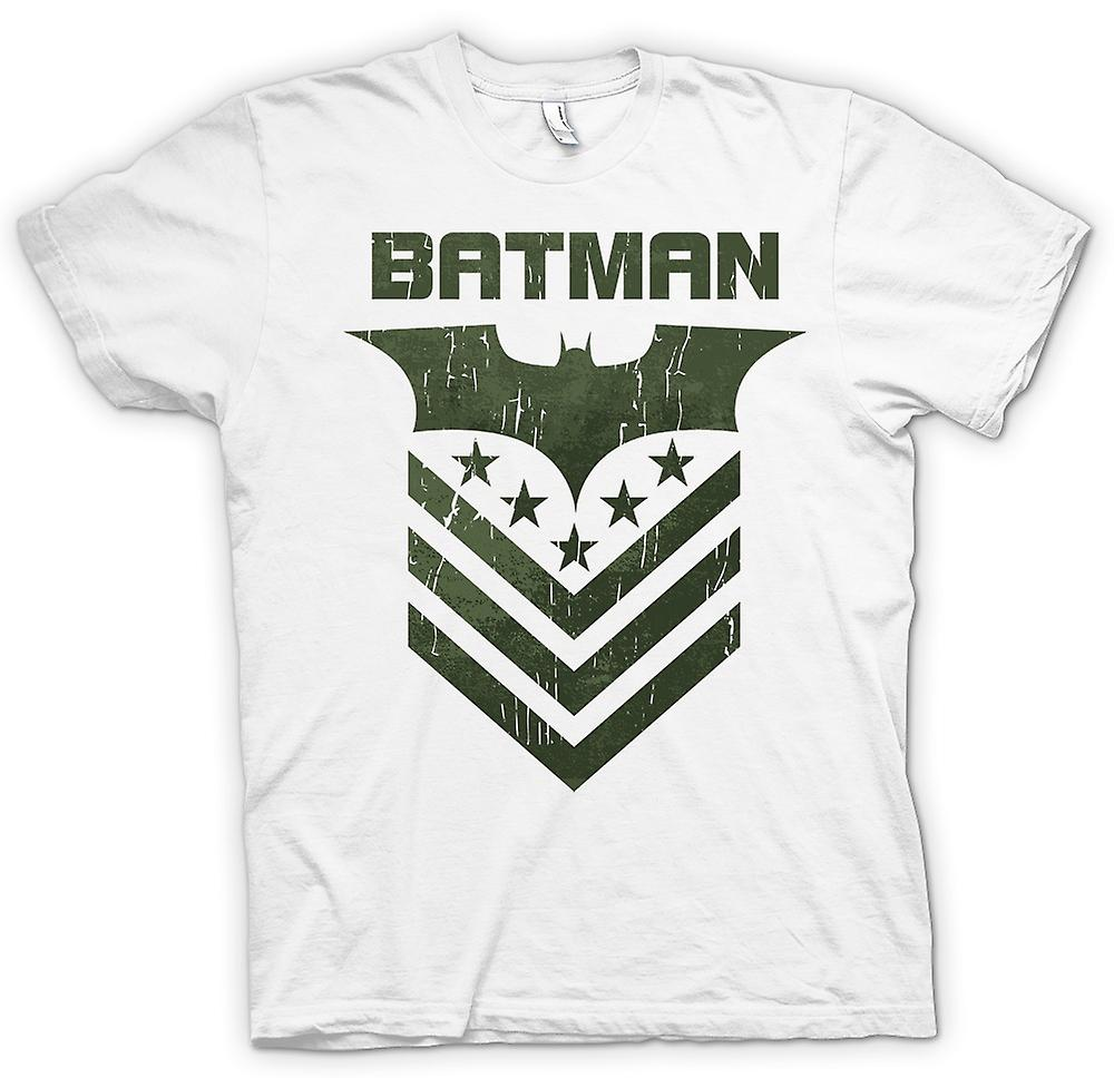 Heren T-shirt-Batman Dark Knight sterren en strepen