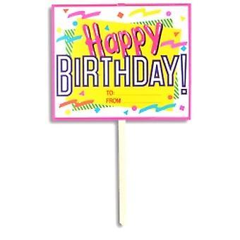 Garten-Schild zum Geburtstag