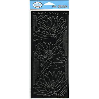 Waterlilies Peel-Off Stickers-Black