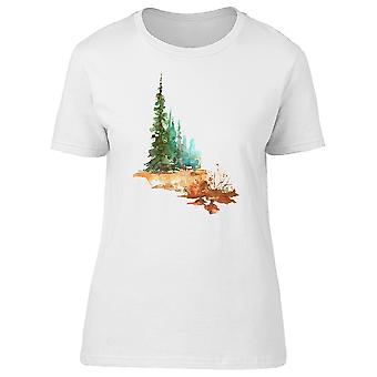 Juniper Pine Trees And Forest Tee Women's -Image by Shutterstock