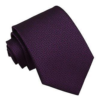 Cadbury lila grekiska nyckel klassiska slips