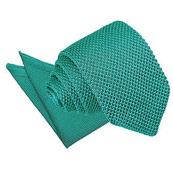 Krikand strikkede slanke slips & lomme firkantet sat