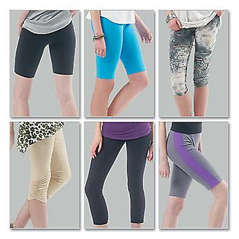 Misses'/Women's Leggings In 4 Lengths-A5 (6-8-10-12-14) -*SEWING PATTERN*