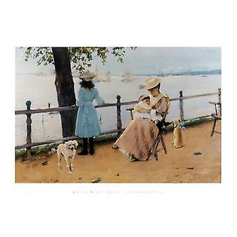 Tarde por impressão de cartaz o mar por William Chase (34 x 24)