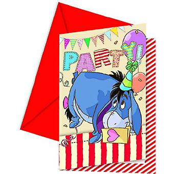 Winnie the Pooh Winnie the Pooh party invitation cards 6 piece children birthday theme party