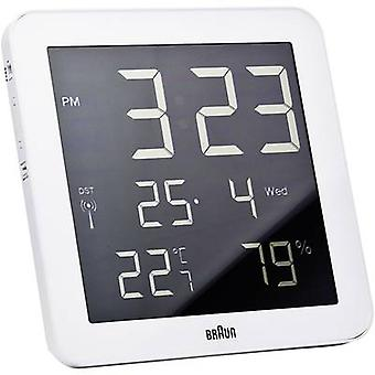 Braun 66028 Radio Wall clock 210 mm x 210 mm x 23 mm White