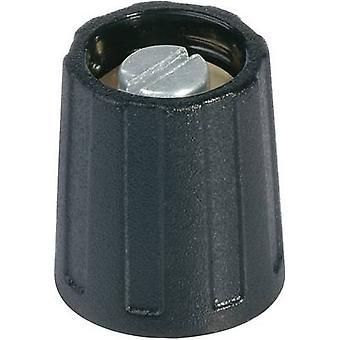 OKW A2510040 Control knob Black (Ø x H) 10 mm x 14 mm 1 pc(s)