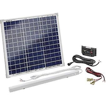 Esotec 120006 Solar kit 30 W incl. charge controller, with LED light