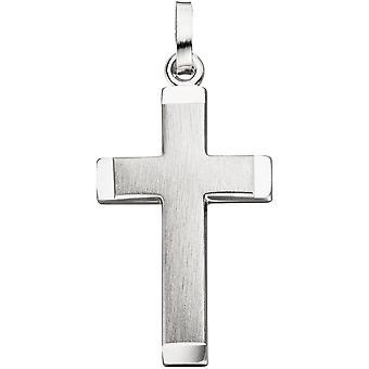Pendant cross 925 Silver matte satin cross pendant silver pendant silver cross