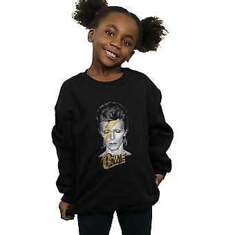 David Bowie Mädchen Aladdin Sane Gold Bolt Sweatshirt
