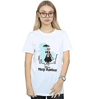 Disney Women's Mary Poppins Rooftop Landing Colour Boyfriend Fit T-Shirt