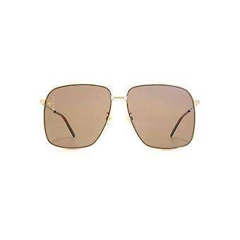 Gucci Oversize Vintage Web Sunglasses In Gold Brown 8850efc02b5