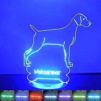 Weimaraner Dog Colour Changing LED Acrylic Light