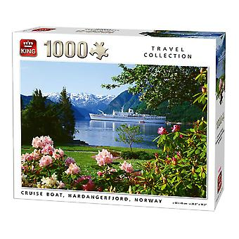 King Cruise Boat, Hardangerfjord, Norway Jigsaw Puzzle (1000 Pieces)