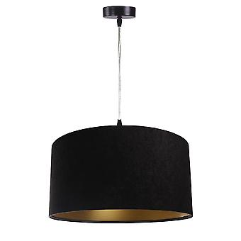 Pendant luminaire Jalua P velour black & gold Ø 40 cm 10628