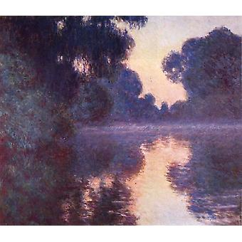 Brazo del Sena cerca de Giverny en Sunrise, Claude Monet