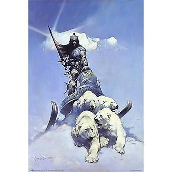 Silver Warrior poster Frank Frazetta