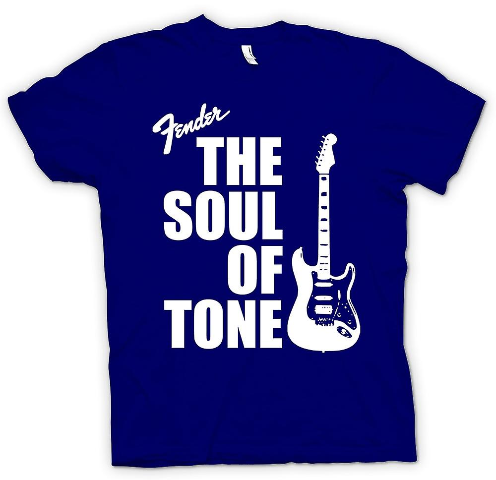 Mens T-shirt-Fender Strat Seele Ton Gitarre