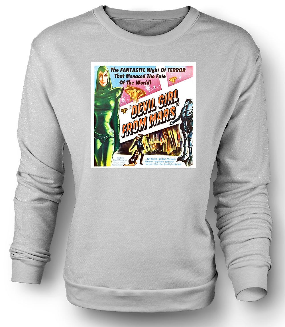 Mens Sweatshirt Devil Girl From Mars - B Movie Poster
