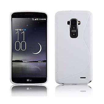 Cadorabo Hülle für LG G FLEX - Handyhülle aus flexiblem TPU Silikon im S-Line Design - Silikonhülle Schutzhülle Soft Back Cover Case Bumper
