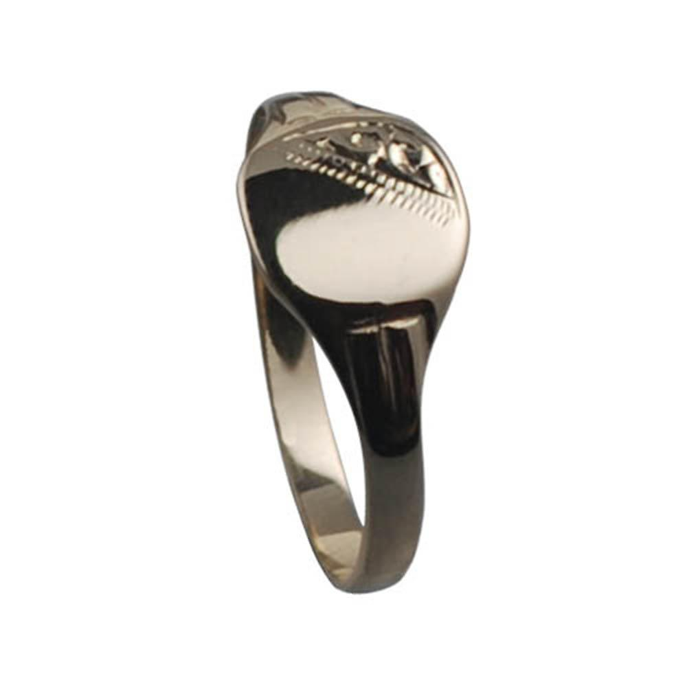 9ct Gold 10x10mm childs engraved TV shaped Signet ring