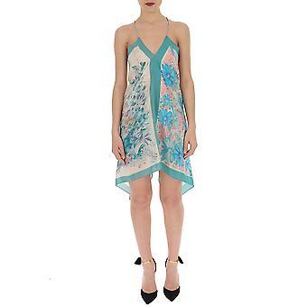Semi-couture Multicolor Silk Dress