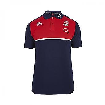 2015-2016 England Rugby Baumwolle Training Polo-Shirt (Navy)
