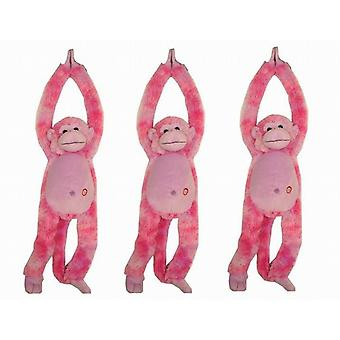 3 Long Arm Monkey With Sound Yellow/Pink High Quality Kids Children Soft Toys - (TY9919C)
