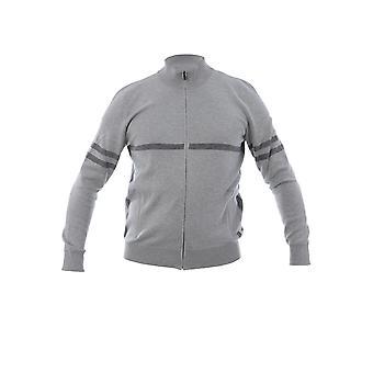Corneliani Grey Cotton Sweatshirt