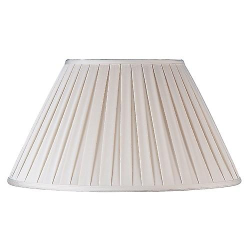 Endon CARLA-16 Carla Cream Box Pleated Fabric Lamp Shade - 16 Inch