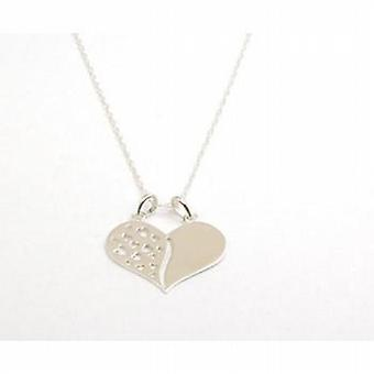 The Olivia Collection Sterling Silver Cut Out Heart Pendant on 18 Inch Chain
