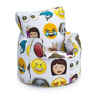 Barnas Emoji design fylt Bean Bag Chair
