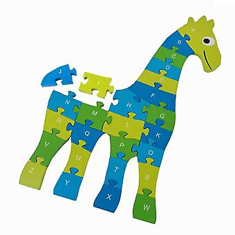 BuitenSpeel Giraffe Puzzle Blue and Green