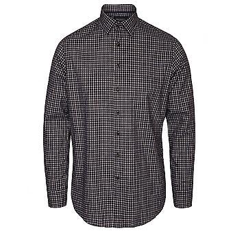 Hackett Long Sleeve Melange Tri  Colour Shirt, Navy