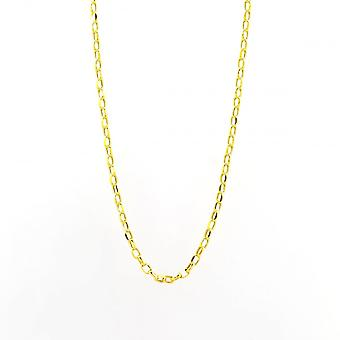 Eternity 9ct Gold 20 ' ' ovale Diamond Cut boeren ketting