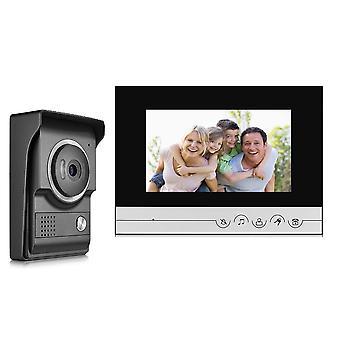 7 inch TFT 2.4 g Wired kleur intercom deurbel video deur telefoon nachtzicht IR buiten monitor