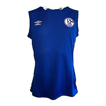 2019-2020 Schalke Umbro Sleeveless Shirt (Blue)
