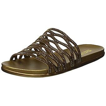 Kenneth Cole Reaction Womens Slim Slide Fabric Open Toe Casual Slide Sandals