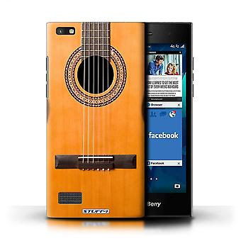 STUFF4 Case/Cover for Blackberry Leap/Wood/Wooden Acoustic/Guitar