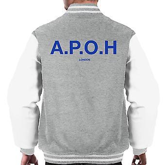 A.P.O.H Classic Cobalt Logo Men's Varsity Jacket