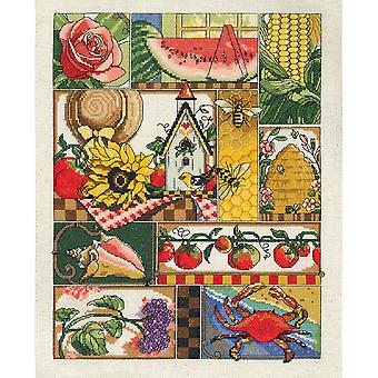 Summer Montage Counted Cross Stitch Kit-11