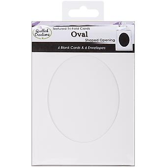 Cards & Envelopes 6 Pkg White Tri Fold Oval Shaped Opening Qc90 4