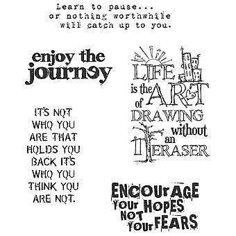 Tim Holtz Cling Rubber Stamp Set Just Thoughts Cms 078