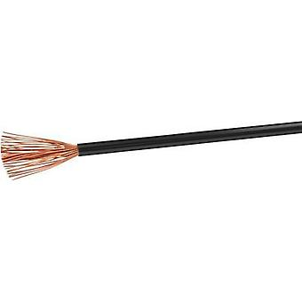 Flexible cable H07V-K 1 x 4 mm² Black VOKA Kabelwerk H07VK4SW 100 m