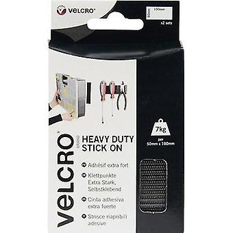 Hook-and-loop tape stick-on Hook and loop pad, Heavy duty (L x W) 100 mm x 50 mm Black VELCRO® brand VEL-EC60239 2 pair
